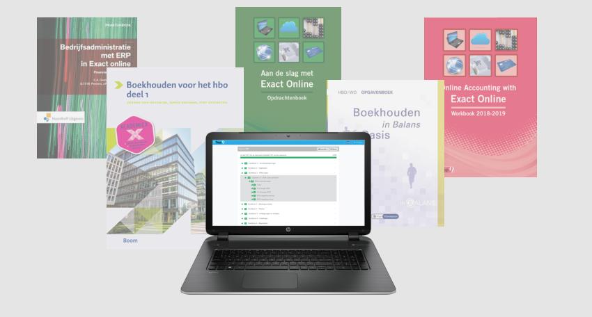 overzicht studieboeken exact online en controle-tool