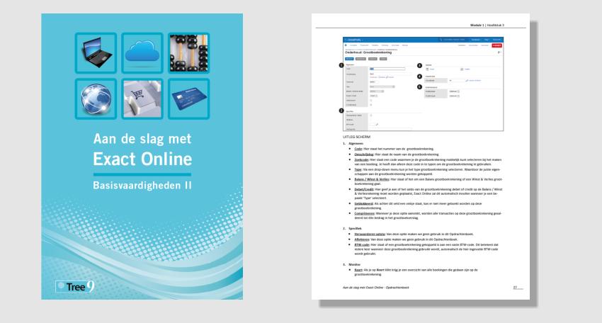 zelfstudie exact online inhoud 1
